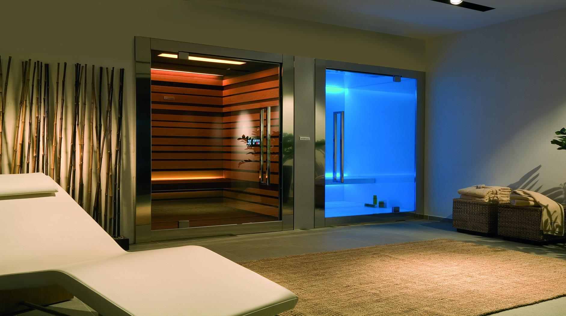 Steam room and saunas