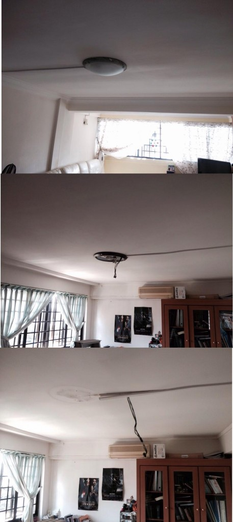 Fanco-Aroma-and-Breeze-ceiling-fan-installed-in-HDB-before-installation