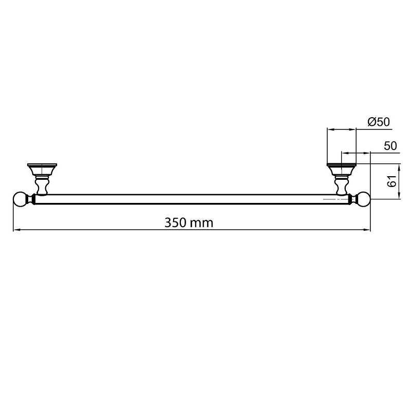 Towel Rack Standard Height: KA501402-Towel-Bar - Bacera